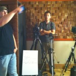 Video shoot, the camera and director